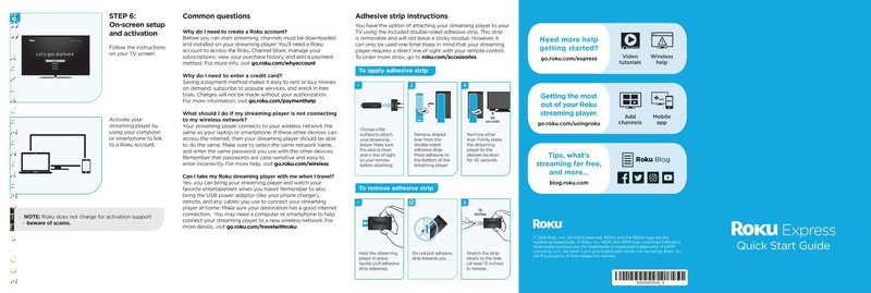ROKU ROKUEXPRESS3700XOM Operating Manual