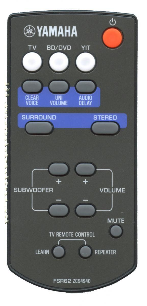 YAMAHA FSR62 Sound Bar System Remote Control