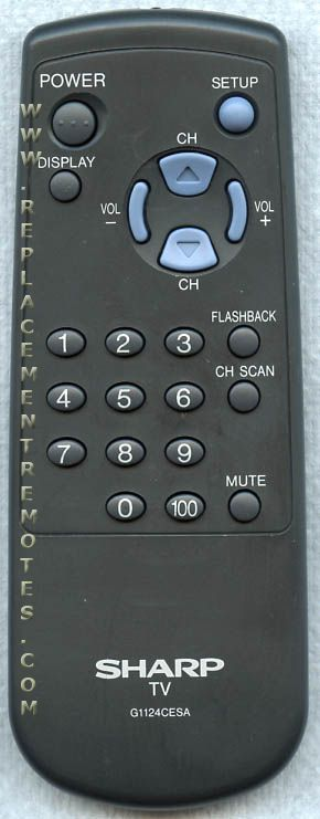 SHARP G1124CESA TV Remote Control