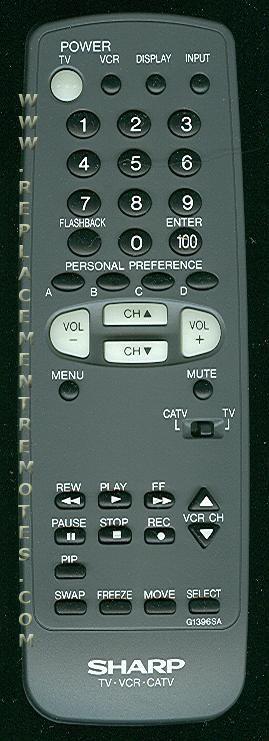 SHARP G1396SA TV Remote Control