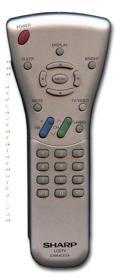 SHARP G1664CESA TV Remote Control