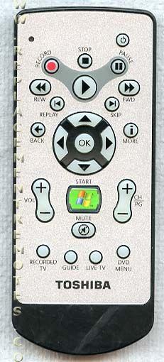 TOSHIBA G83C0004D110 PC Media Center System Remote Control