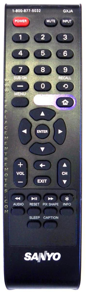 SANYO GXJA TV Remote Control