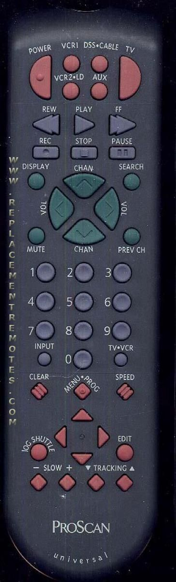 Proscan-RCA CRK83X VCR Remote Control