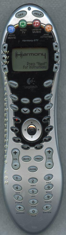 buy logitech harmony 670 harmony670 815000001 advanced universal rh replacementremotes com Logitech Harmony 670 Remote Logitech Harmony 520 Remote