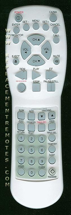 ZENITH HG23A05W DVD Player Remote Control