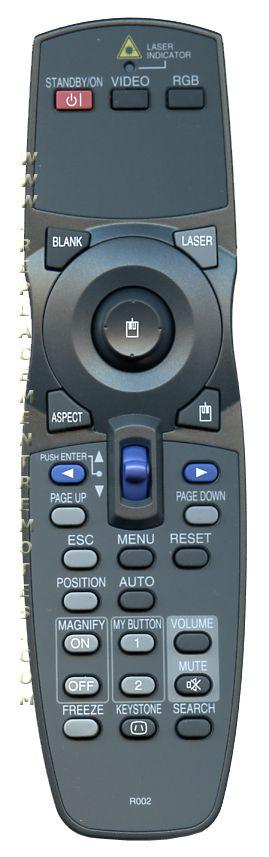 HITACHI R002 Projector Remote Control
