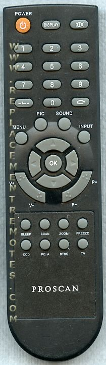 Proscan HOF07I655GPD5 TV Remote Control