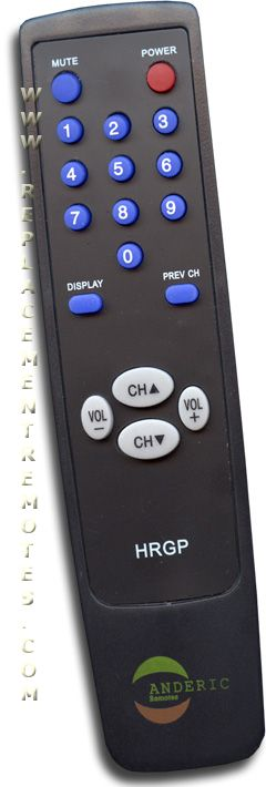 Anderic-Hospitality Simple Remote Control for RCA TV Remote Control