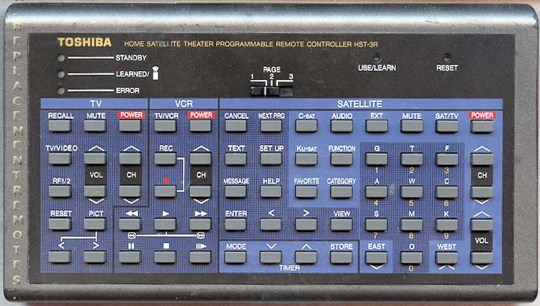 TOSHIBA HST3R Remote Control