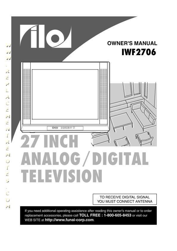 Buy Ilo Iwf2706om Iwf2706 Operating Manual
