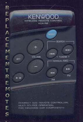 KENWOOD KCAR2 Car Audio System Remote Control