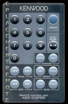 KENWOOD KDCC10FMX Remote Control
