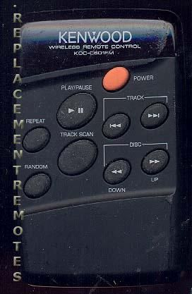KENWOOD KDCC601FM Remote Control
