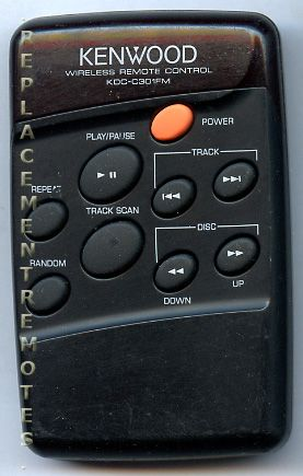 KENWOOD KDCC301FM Audio System Remote Control