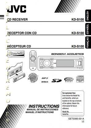 buy jvc kds100om kds100 kds100jd operating manual rh replacementremotes com Kds 6 Shoes Ice Cream KD 10