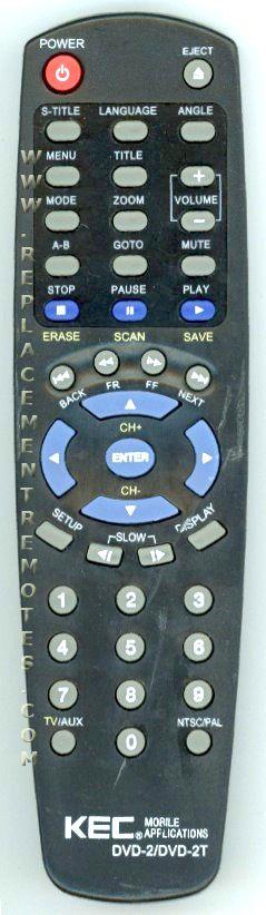 KEC DVD2 Remote Control