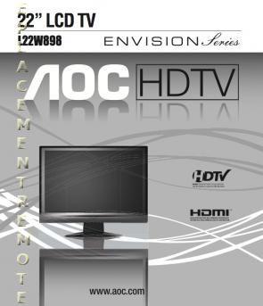 AOC L22W898OM Operating Manual