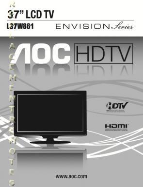 AOC L37W861OM Operating Manual