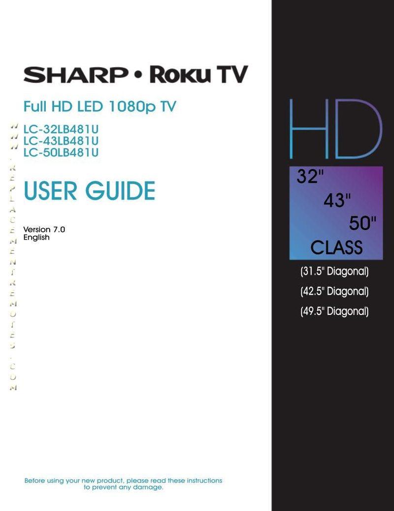 SHARP LC43LB481COM Operating Manual