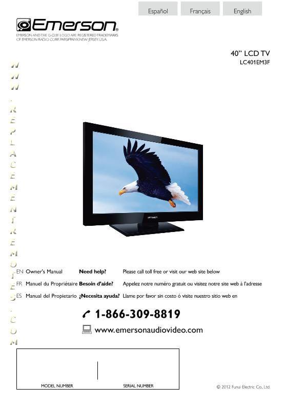 Buy EMERSON LC401EM3FOM Emerson LC401EM3F Operating Manual