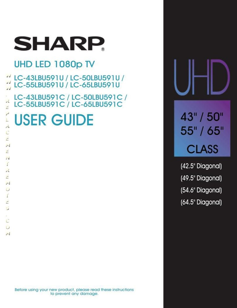SHARP LC43LBU591UOM Operating Manual