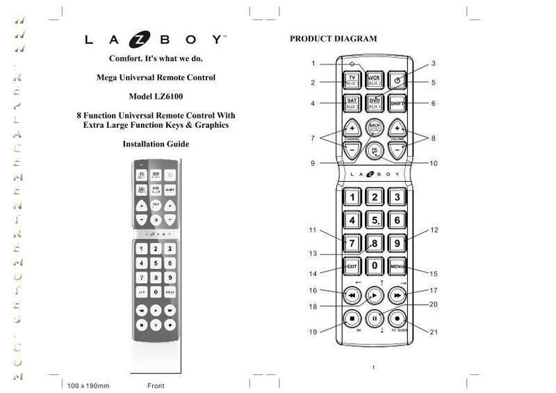 La-Z-Boy LZ6100OM Operating Manual