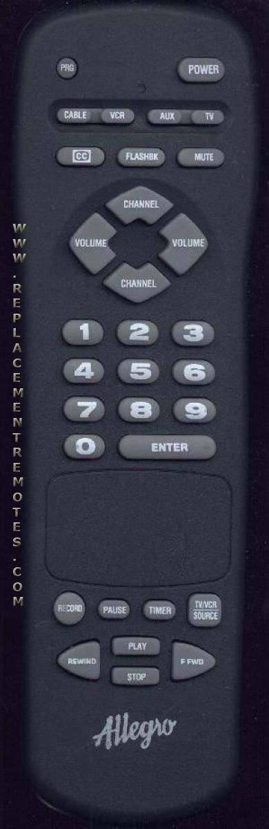 ALLEGRO MBC4010 TV Remote Control