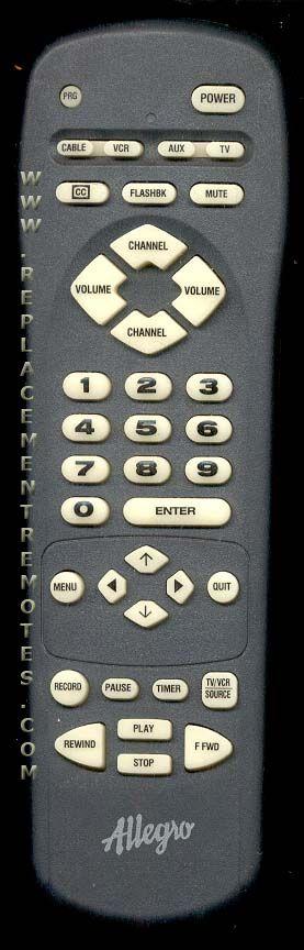 ALLEGRO MBC4025 TV Remote Control