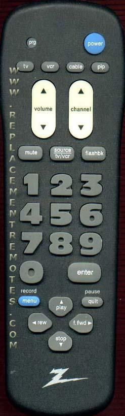 ZENITH MBR3346Z TV Remote Control