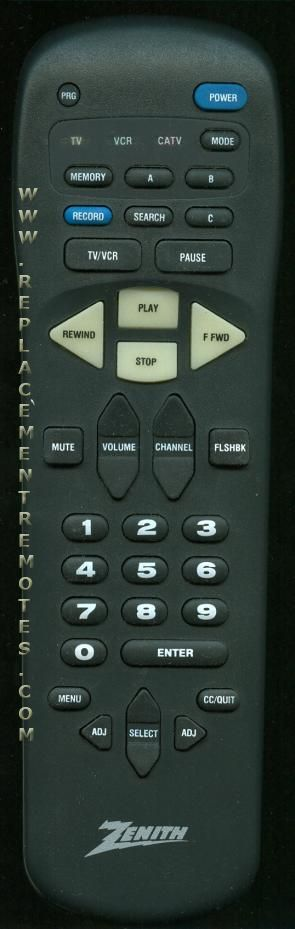 ZENITH MBR335004 Remote Control