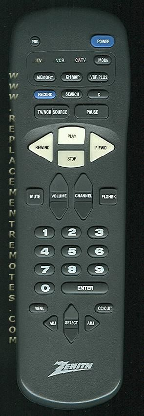 ZENITH MBR337003 Remote Control