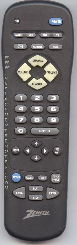 ZENITH MBR3445P TV Remote Control