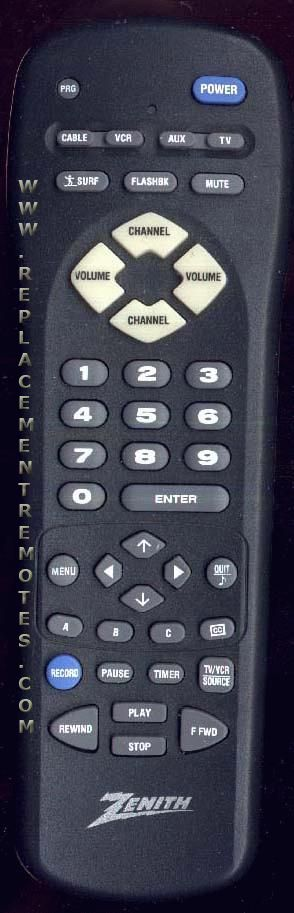 ZENITH MBR3455 Remote Control