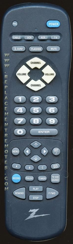 ZENITH MBR3447 TV Remote Control