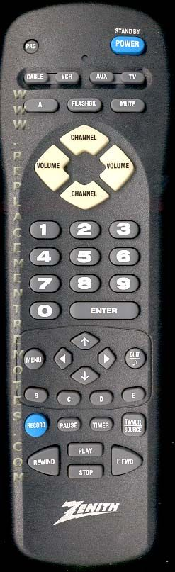 ZENITH MBR3449 Remote Control