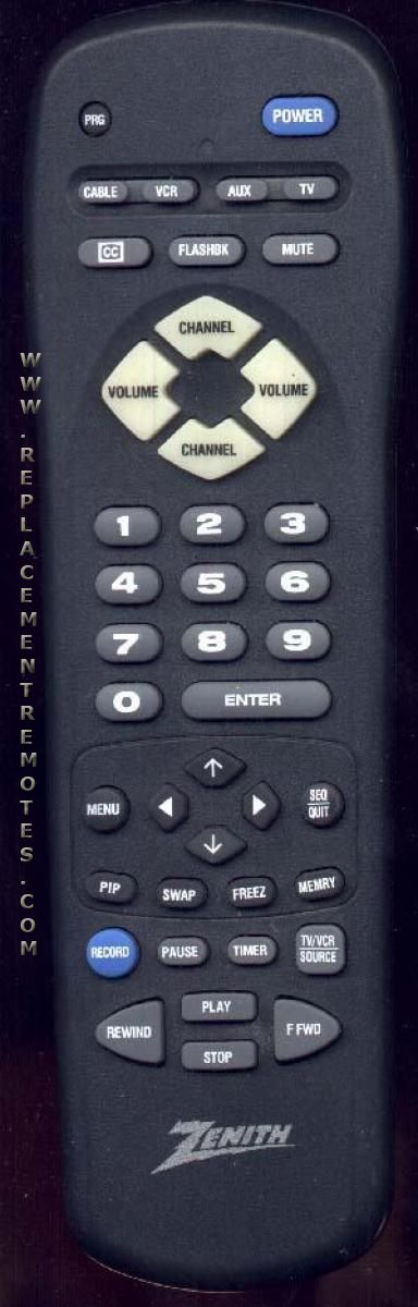 ZENITH MBR3450 TV Remote Control