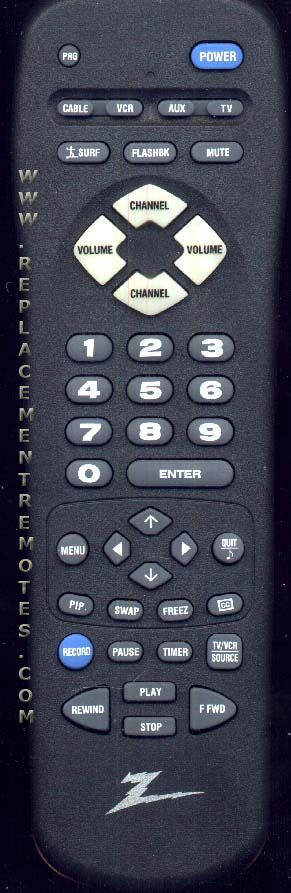 ZENITH MBR3457 TV Remote Control