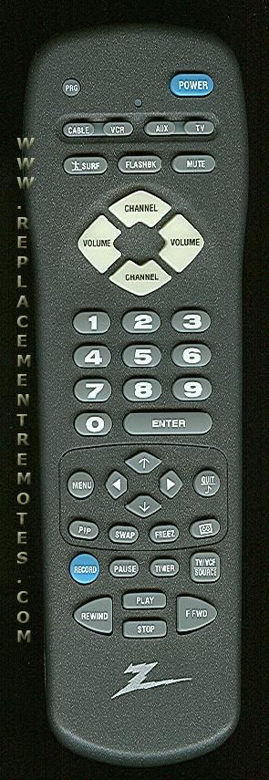 ZENITH MBR3457CT TV Remote Control