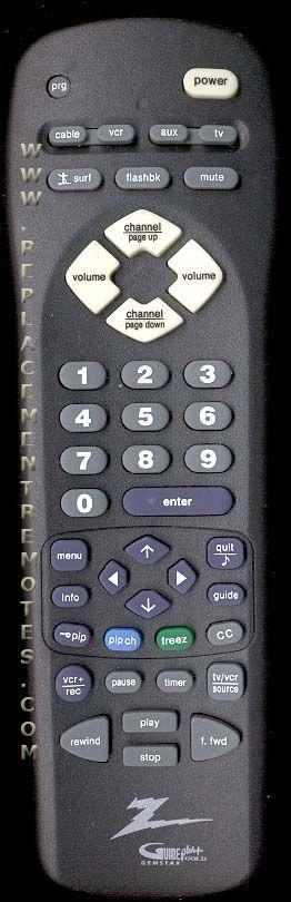ZENITH MBR3466CZ Remote Control