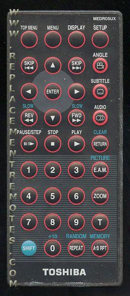 TOSHIBA MEDR05UX Remote Control