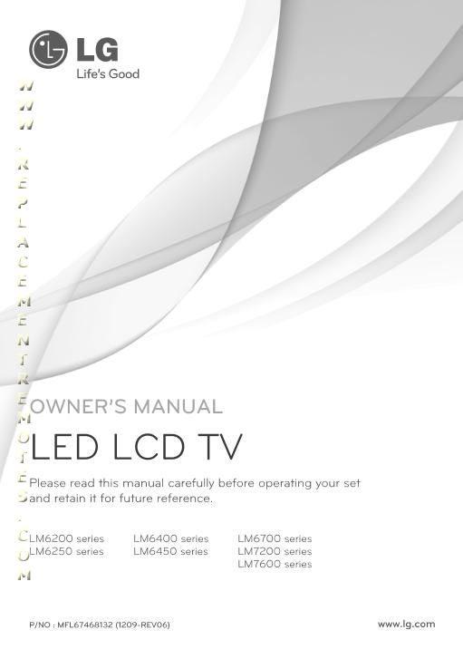 LG LM6200OM Operating Manual