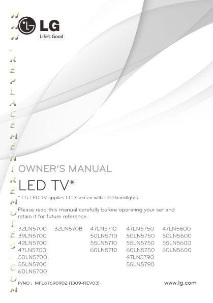 LG MFL67690902 Operating Manual