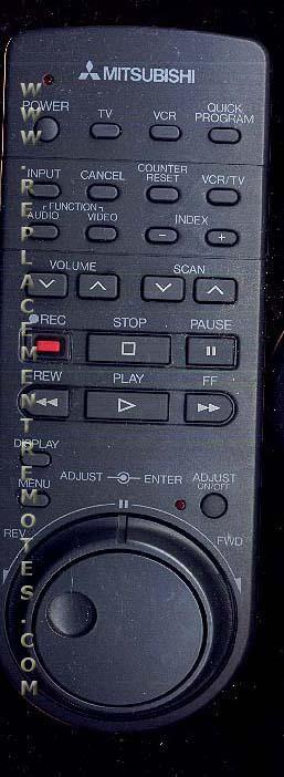 MITSUBISHI 1007 VCR Remote Control