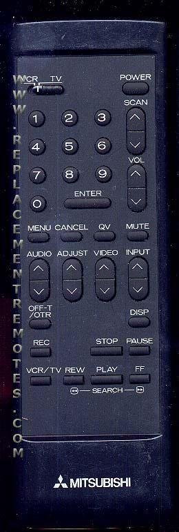 MITSUBISHI 2001 TV Remote Control