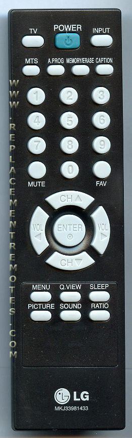 LG MKJ33981433 Remote Control