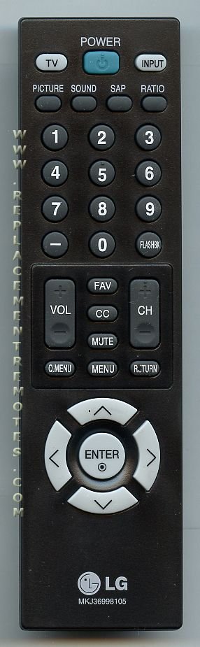 LG MKJ36998105 Remote Control