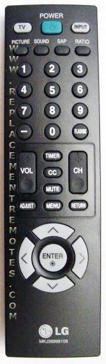 LG MKJ36998108 Remote Control