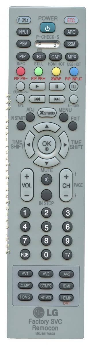 LG MKJ39170828 Master/Service TV Remote Control