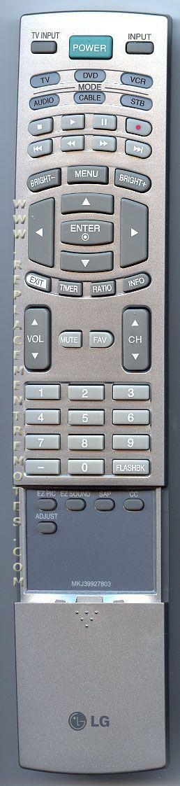 LG MKJ39927803 TV Remote Control